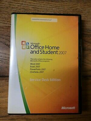Microsoft Office Home And Student 2007 Software PC with product key