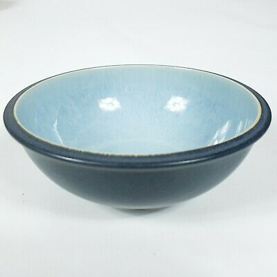 "Denby-Langley Blue Jetty 7"" Stoneware Soup/Cereal Bowl England Microwave Safe"