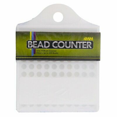Universal Tool 100 Beads Bead Counter 4mm Diameter with Hanging Hole Jewelry