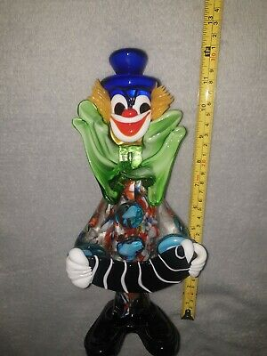 VINTAGE MURANO GLASS CLOWN ACCORDION excellent condition