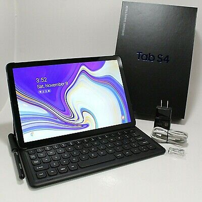 Samsung Galaxy Tab S4 64GB, Wi-Fi, 10.5 in - Black Very Good Condition Bundle