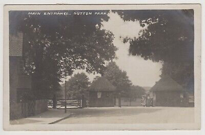 Antique Real Photo Postcard Main Entrance Sutton Park Sutton Coldfield 1919