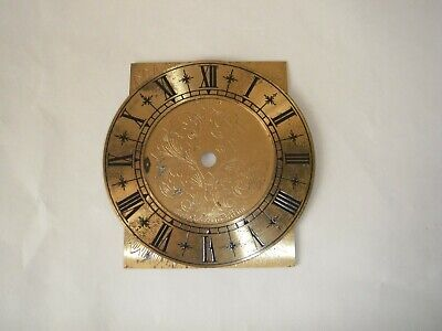 Clock Chapter Ring Brass & Back Plate Smiths 1diame17mm Vintage Recessed numbers
