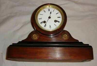 A 19Th Century Mahogany & Ebonized, Japy Freres Mantel Clock.