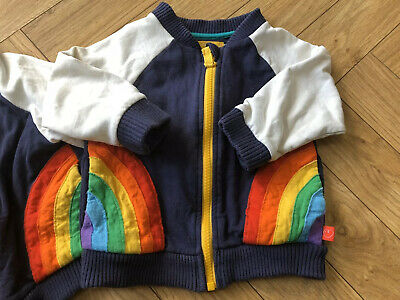 Little Bird By Jools Oliver Mothercare 9-12 Months Zip Up Jacket Rainbow