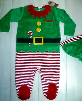 NEXT Baby boys/girls  Christmas Elf  2 piece set all-in-one  9-12 months