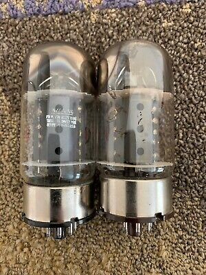 GE 6550A Vintage Tubes Good Matched Pair Amplitrex Tested 88/89%