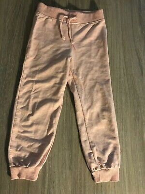 Girls Age 4-5 Pale Pink Joggers Salmon Dance P.E Casual Basics Young Dimension