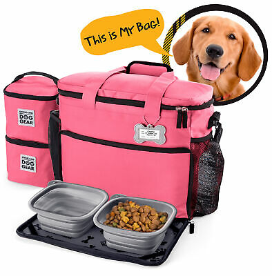 Mobile Dog Gear Week Away Dog Travel Bag for Medium and Large Dogs Pink