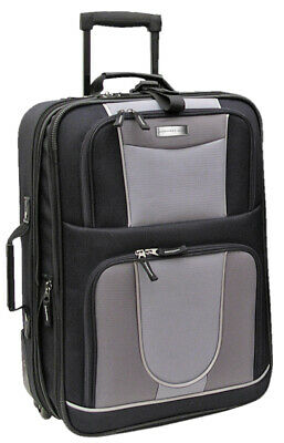 Mobile Dog Gear Geoffrey Beene Luggage 21 Inch Wheeled Carry-On Black and Gray