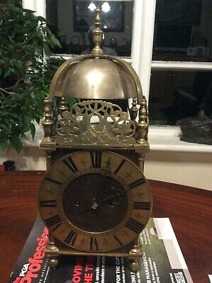Large Size Chain Driven Double Fusee Victorian Lantern Clock, Working,