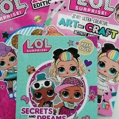 LOL Surprise Girls 2020 Annual/Activity Books Coloring/Stickers/Puzzles Fun Gift