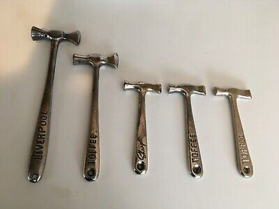English Vintage Metal Toffee Candy Advertising Hammers S/5