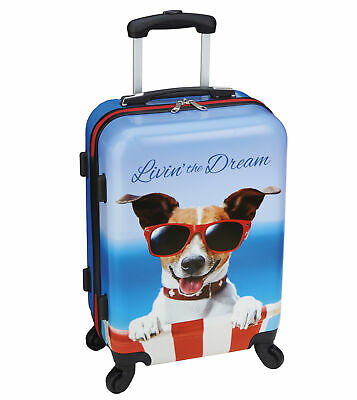 "Mobile Dog Gear Livin The Dream Dog Luggage Rolling Carry On Spinner 20""Suitcase"
