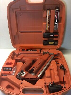 Paslode Impulse Im350/90 CT First Fix Nail Gun +2 Batteries + 2 Gases + Charger