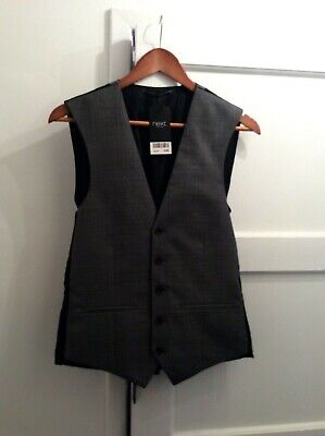 Brand New Mens Grey Waistcoat Size 36R from Next : Weddings Races Office Party