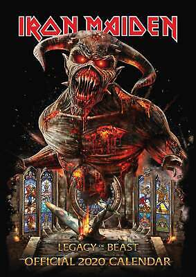Iron Maiden Calendar 2020 Official A3 Wall Calender Metal Band Brand New Sealed