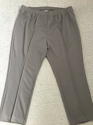 New Womens Smart Pull On Elasticated Waist Trousers From Damart Size 24 Short