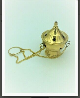 Hand Crafted Brass CHARCOAL HANGING CENSER BURNER 8CMS