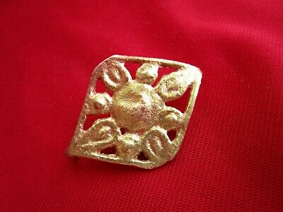 Ancient Celtic bronze amulet - pendant in form of Sun 42 mm .circa 100 BC.POLISH