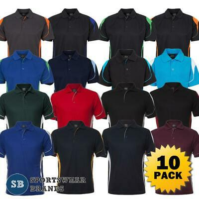 10 x Mens Bell Polo Shirt Sports Team Uniform Breathable Quick Dry Work New 7BEL