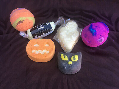 Set of 6 Lush USA Bath Bombs, Soaps, Suds Halloween Limited Edition Glows NEW