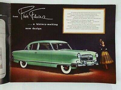 1952 NASH - The Golden Airflyte - Anniversary Sales Brochure Booklet