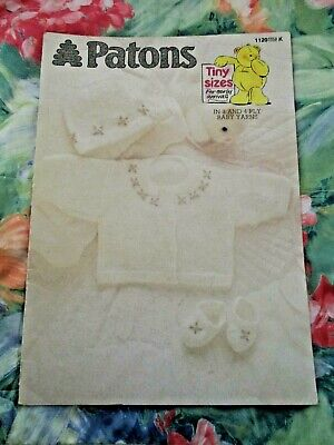 Patons Tiny Sizes For Early Arrivals Knitting Pattern Book #1120