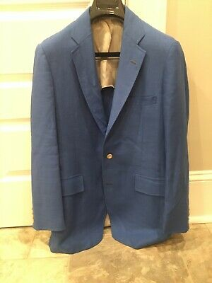 Air Force Blue Sport Coat Southwick Paul Stuart Size 42