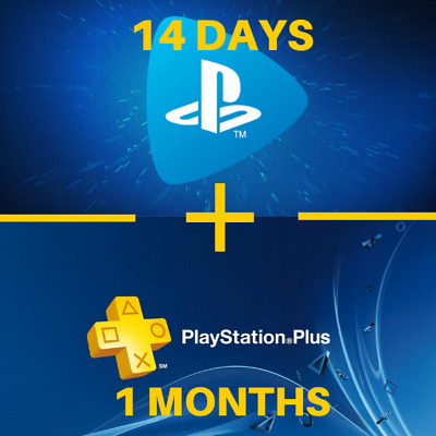 1 Months Ps Plus + 14 Days Ps Now / *Playstation *Ps4 *Psn / ( No Code ) Us - Fr