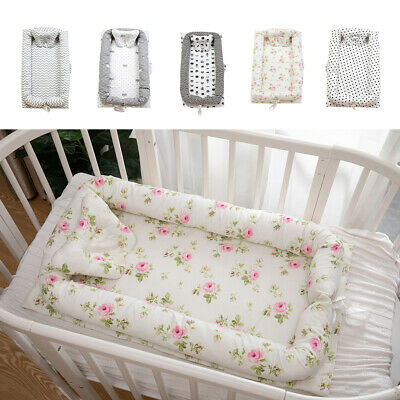 Breathable Baby Bassinet Lounger for Cuddling Co Sleeping Travel 0-24 Months