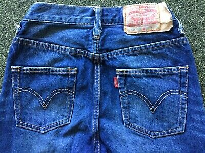 Levis 501's childs size 8 blue denim red tab jeans in EC