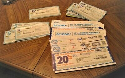 Bed Bath & Beyond 44 Coupons 20% Off, $10.00 Off, $20.00 Off, $5.00 Off, Read