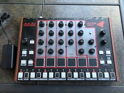 Akai Rhythm Wolf Analog Drum Machine & Bass Synthesizer Excellent Condition
