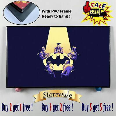 """12""""x20"""" Batman playing cards HD Canvas printings Framed Home Decor posters photo"""