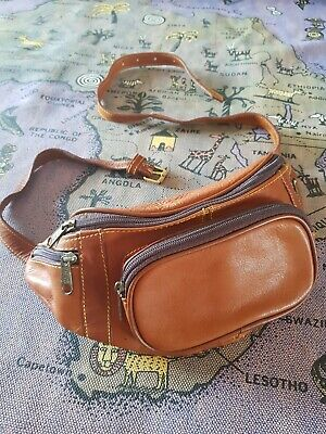 Vintage 80s Brown Leather Bum bag Festival Ready Bummy