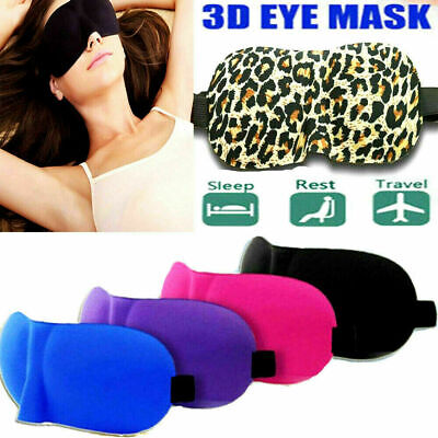 3D Soft Eye Mask Travel Sleep Shade Blindfold Mask Elasticated Sleeping Rest Aid