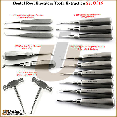 Dental Root Elevator Oral Surgery Kit Tooth Luxating Instruments Coupland Chisel
