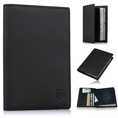 Slim Leather Passport Holder Cover Case Rfid Blocking Travel Wallet ID Card Case