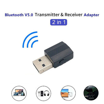 Bluetooth 5.0 Wireless Receiver Audio Adapter Transmitter 3.5mm Music AUX Car.KY