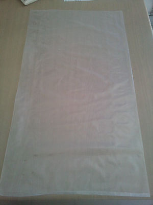 50 Heavy Duty Large Plastic Bags Clear 400mmx800mm suitable for Manure Packaging