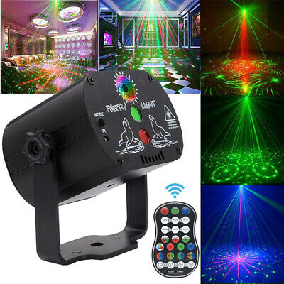 Mini RGB Portable Led Stage Laser Light DJ KTV Projector Disco Party USB Lamp