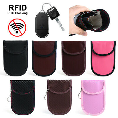 1PC RFID Anti-Theft Car Key Fob Signal Blocker Guard Case Faraday Bag Pouch