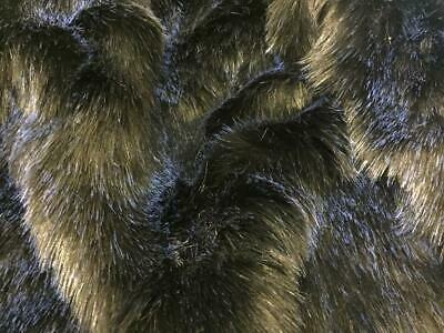 BLACK WHITE Super Luxury Faux Fur Fabric Material STARRY NIGHT
