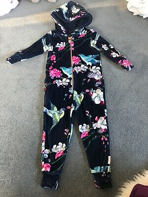 Ted Baker Girls' Navy Floral Velour Suit - Hummingbird - 2-3years - Cosy Outfit