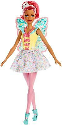 Barbie FXT03 Dreamtopia Fairy Doll - Pink Haired Doll with Yellow Dress