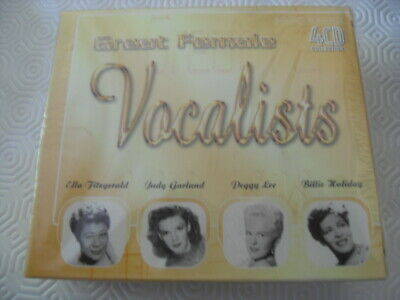 Great Female Vocalists 4CD Collection, Fitzgerald, Lee, Garland & Holiday NEW