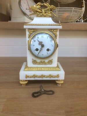 French White Marble Clock