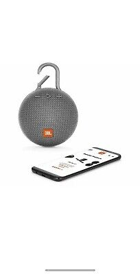 JBL Clip 3 Portable Bluetooth Speaker - Grey