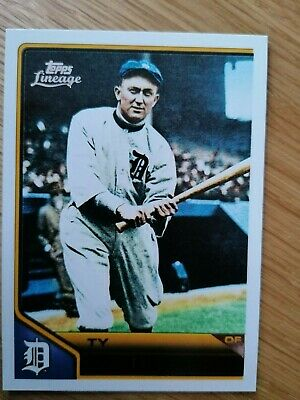 2011 Topps Lineage MLB Trading Card Ty Cobb Detroit Tigers #105